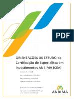 ANBIMA D.04.21.09 Orientações de Estudo CEA 1.7