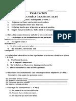 EVALUACION-CATEGORÍAS GRAMATICALES