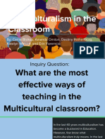 critical inquiry project - multicultural education
