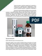La intoxicación es el conjunto de signos y síntomas causados por la exposición a sustancias químicas nocivas para el organismo.docx