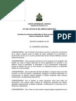 Ley Del Estatuto Del Medico Empleado Hondureño