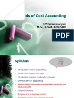 Module 4 Methods of Cost Accouting