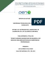 ESTUDIO  DE  FACTIBILIDAD DEL LABORATORIO  DE CALIBRACION  DEL VERNIER  CORREGIDO..docx