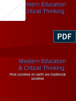 Western Education & Critical Thinking