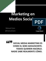 Social Media Marketing – La diferencia entre la construcción de una comunidad y la venta a un mercado @manuelcaro