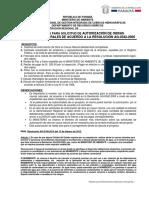 Requisitos Para La Solicitud de Autorizacion de Obras en Cauce Natural