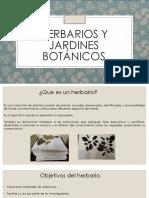 Herbarios y Jardines Botánicos