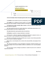 ADE - Matemática - 6º Ano Do Ensino Fundamental