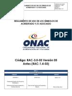 RAC-3.0-03 Reglamento de Uso de Los Símbolos de Acreditado Yo Asociado v5