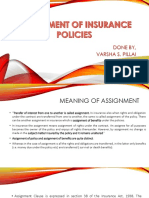 Assignment of insurance