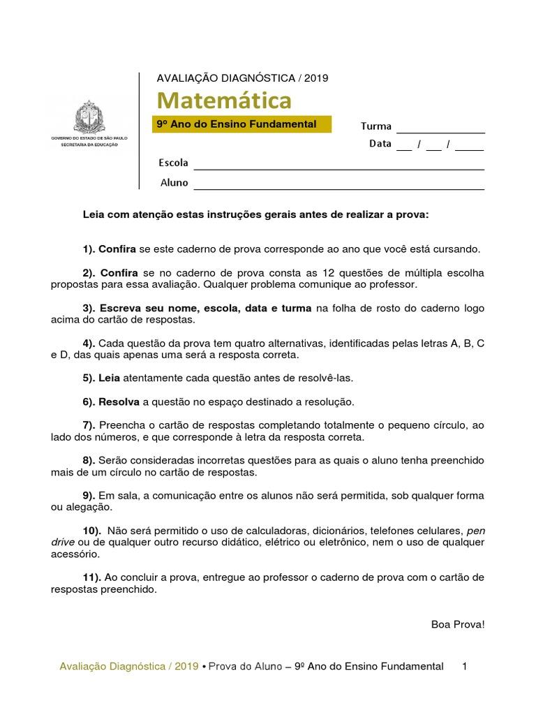 Ade Matematica 9º Ano Do Ensino Fundamental Ensino De Matematica Escolas