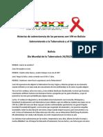 Historias de Sobrevivencia de Las Personas Con VIH en Bolivia TB VIH