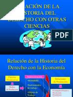 189 Relación histórica del derecho con otras disciplinas