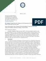 2019 BYUs Response to Notice to Decertify University Police