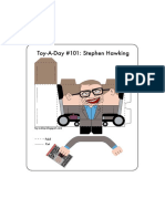 Stephen Hawking Paper Toy