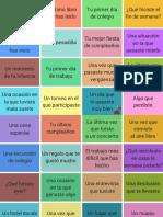 Preguntas Pasados / Past tenses questions (Spanish)