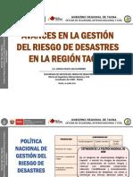 5.- Avances en La Gestión de Riesgo de Desastres en La Región Tacna- Lic. Jessica Huayllani Gutierrez - COER TACNA