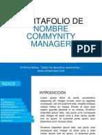 Plantilla Portafolio Community Manager