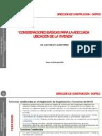 8.- Consideraciones Basicas Para La Adecuada Ubicacion de La Vivienda - Ing. Juan Carlos Oliden_DGPRCS