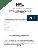 Adoption Des SCA Et Performance Entreprises Senegalaises (1)