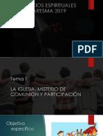 TEMA 1 LA IGLESIA, MISTERIO DE COMUNIÓN Y PARTICIPACIÓN