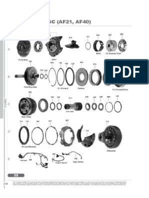AF40 Automatic Gearbox Pump O Ring