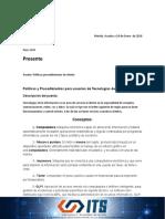 POLITICAS Y PROCEDIMIENTOS A CLIENTES DE ITS.docx