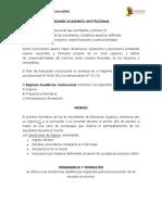 Regimen Academico Institucional
