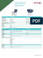 Equipo multifunción Xerox® WorkCentre® 3335/3345