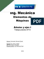 TP 10 - Arboles y Ejes - 1er Tp