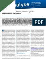 Analyse Cep 107 Chocs Prix Matieres Premieres Agricoles