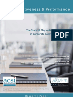 Board Effectiveness and Performance of Australian Companies