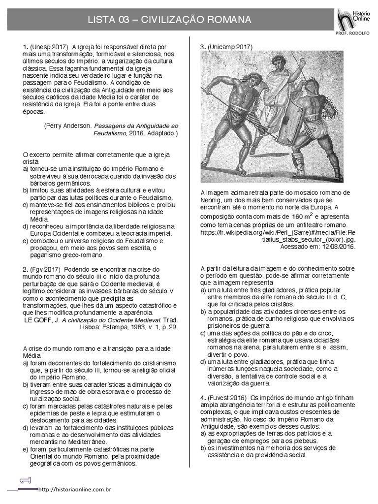 A Civilização Do Ocidente Medieval Pdf historia civilizaÇÃo romana.pdf  império romano