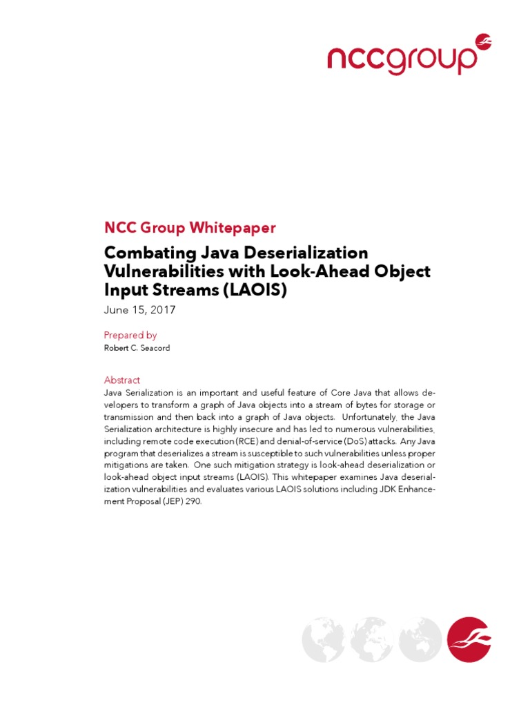 Combating Java Deserialization Vulnerabilities with Look