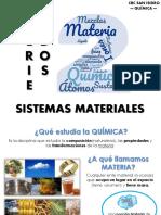 Química explicación - Sistemas Materiales