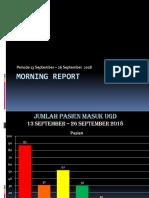 Morning Report 13 SEP- 26 SEPT 2018