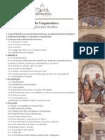 Conteúdo Programático - Curso de Iniciação Filosófica