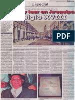 Escribir y leer en Arequipa del siglo XVIII, Mario Rommel Arce Espinoza