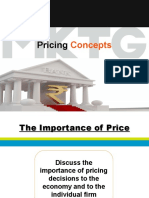 The Pricing Concept