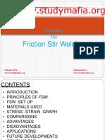 MECH Friction Stir Welding PPT