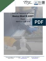 ABRIL 2019 - Curso de Preparación al Examen ASNT NIVEL III