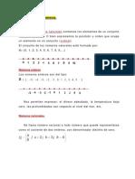 Algebra. Apuntes, 1. Clasificación de Los Números. IIN.