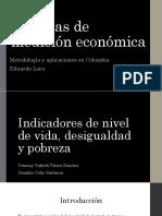 Indicadores de Nivel de Vida Desigualdad y Pobreza 1