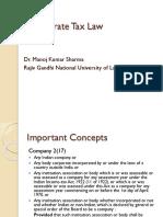 Corporate Tax Law