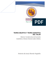 Teoria Objetiva y Teoria Subjetiva Del Valor
