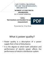 Power Quality Measurement