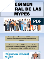 Régimen Laboral de Las Mypes