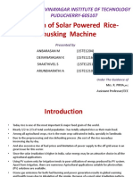 Solar Rice Dehusking Machine 2 PHASE
