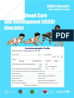 ECCD Checklist Child s Record 1