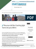 Resumen coaching Agile